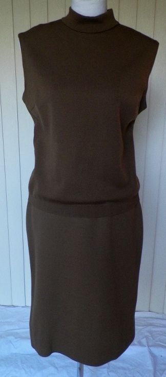 1960s Brown Knit Shell & Matching Skirt