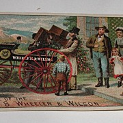 Victorian Arrival Of The No 8 Wheeler & Wilson Sewing Machine Trade Card Detailed 1800s