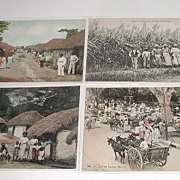 Vintage Early 1900s Lot of seven Black Native Postcards 5 Jamaica 1 Barbados 1 Puerto Rico