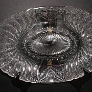 "1881 Duncan & Sons Glass Co. EAPG Shell & Tassel 13.5"" Oval Platter"