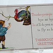 Set Of Three Early 1900s James E. Pitts Thanksgiving Greeting Cards Series 54 A, E, & C