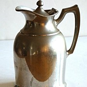 The Elton Hotel  Waterbury Conn CT Early 1900s Landers Frary & Clark Universal Glass Lined Thermos Carafe