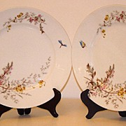 "Charles Field Haviland Gerard Dufraisseix & Morel Limoges Meadow Visitor 8 1/2"" Luncheon Plate"