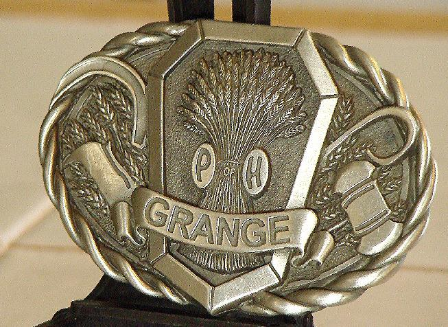 The National Grange Of The Order Of Patrons Of Husbandry Pewter Belt Buckle