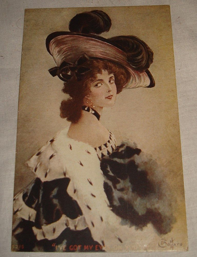 1904 Glamour Lady Signed E. Bottaro Post Card Unused