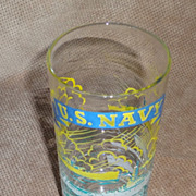 Federal Glass Company - US Navy - Decorated Swanky Swigs