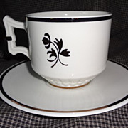 Red Cliff Copper Tea Leaf Cup & Saucer