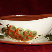 Stangl Pottery - Orchard Song - Gravy Boat & Under Plate