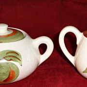 Stangl Pottery - Orchard Song - Cream & Sugar