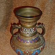 Bronze Champleve Vase Circa 1900