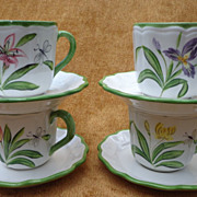Vietri Cup & Saucer  - Flowers & Dragonflies