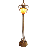 Fine Art Lamps - Single Torchiere Lamp - Glass Shade
