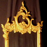 French Gold Gilt Mirror with Shelf