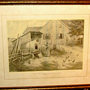 1920 Framed Print by French Canadian Edmond J. Massicotte