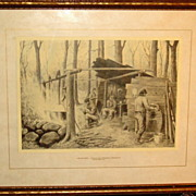1918 Framed Print by French Canadian Edmond J. Massicotte