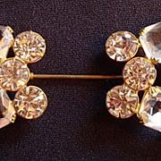 Vintage Rhinestone Jabot Pin/Hat Pin
