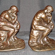 "Cast Iron ""The Thinker"" Bookends"
