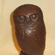 19th Century Bronze Owl