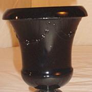 L.E. Smith Black Amethyst Floral Urn