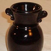 L.E.Smith Black Amethyst Vase
