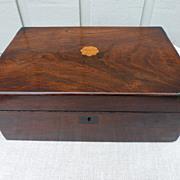 Victorian mahogany box