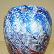 Art glass vase signed Hicks