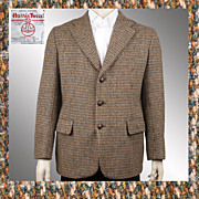 Vintage 60s Harris Tweed Jacket // 1960s Sport Coat Blazer Mens Size M / L