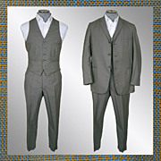 Vintage early 60s 3 Piece Mens Suit // 1960s Glen Check Light Wool British Invasion Mad Men Era Size M