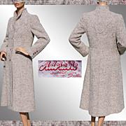 Vintage 1970s Wool Coat -  Lavender Grey