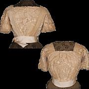 Antique Edwardian Lace Blouse Size S