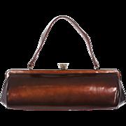 Vintage 1940s Copper Leather Handbag Purse