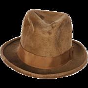 Vintage Mens Plush Fedora Hat c 1920 Woodrow & Sons England Size M / L