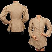 Antique Edwardian Era Linen Jacket Riding Style Ladies Size Small