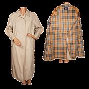 Vintage Burberry Prorsum Ladies Rain Coat Womens Large Long