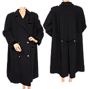 Vintage 1980s Valentino Wool Coat Ladies Size 8 Made in Italy