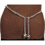 Vintage 1980s Paloma Picasso Chrome Chain Belt