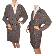 Vintage 1970s French Ladies Suit Jacket & Skirt Samantha Paris Size M