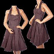 Vintage Carolyn Schnurer Halter Sun Dress for Peck & Peck 1950s Size S XS