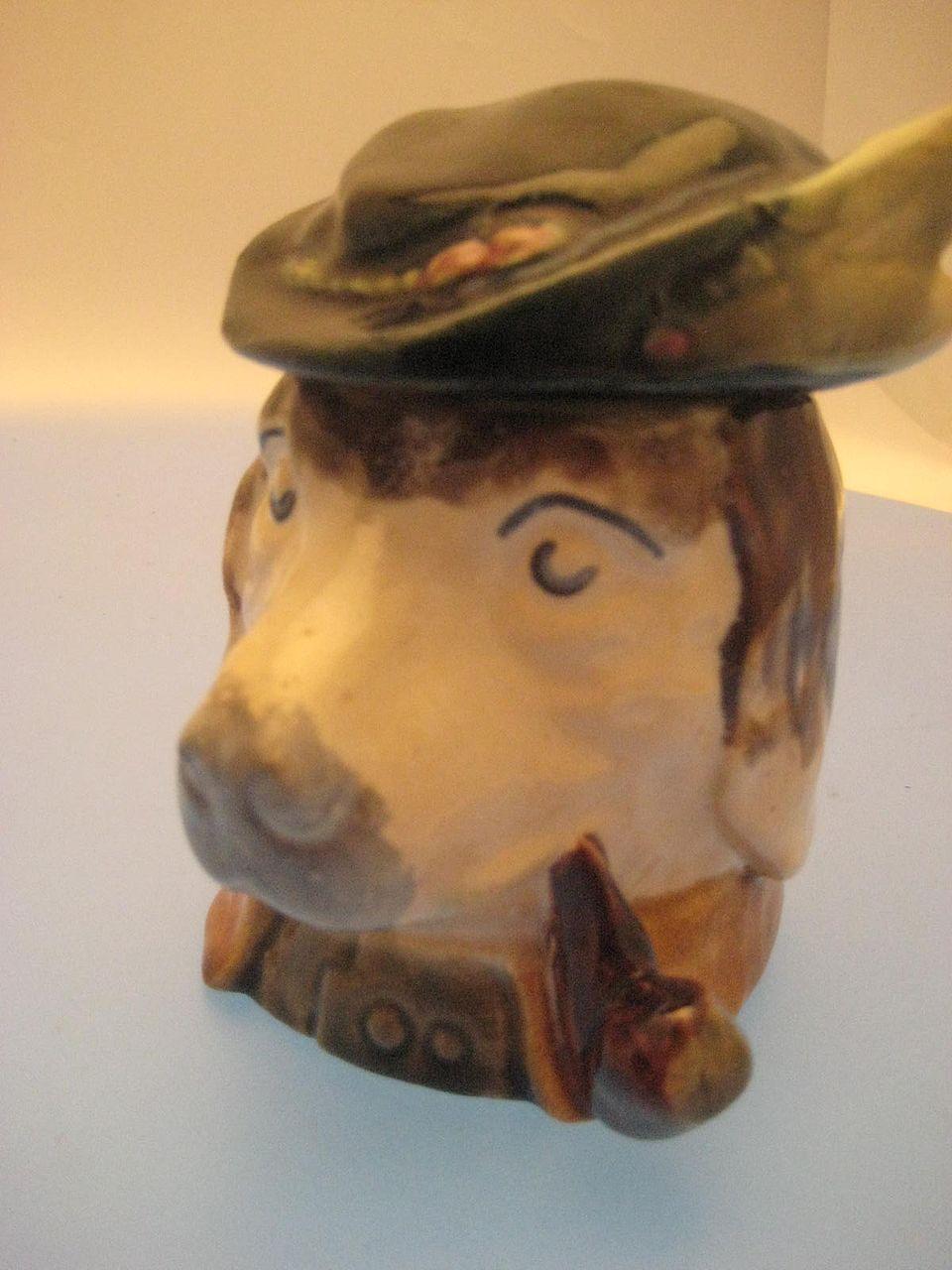 Dog Tobacco Jar - Edwardian