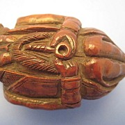 Coquilla Nut from Brazil, Pipe-Smoker Snuff Box - Victorian