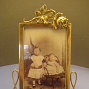 "Brass ""Rose"" Photo Frame - Victorian"