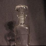 Whitall Tatum, W T Co, Drug Store, Pharmacy Bottle, Thumbprint Stopper