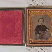 Tintype of Young Boy in Full Case