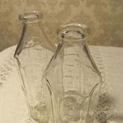 2 Six Sided Pyrex 8oz Baby Bottles