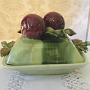 California Pottery Apple Covered Handled Dish