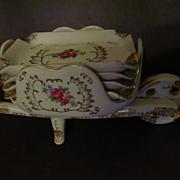 Porcelain 5pc Wheelbarrow Ashtray Set, Japan