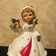 SOLD Napco Napcoware Christmas Girl Music Box