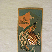 Rocky Mountain Colorado Copper Spinner on Card
