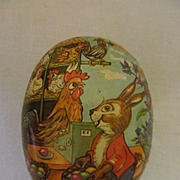 Easter Paper Mache Egg, Germany, Democratic Republic, Candy Container