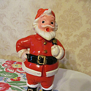 SOLD Christmas Santa Hard Plastic Candy Container
